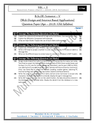 question paper web design and internet based applications old syll u2026