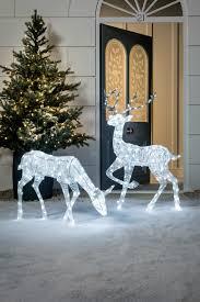 lawn reindeer with lights glitter reindeer christmas figure reindeer lights antlers and lawn