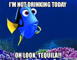 Tequila Meme - i m not drinking today oh look tequila dory from nemo 5 second