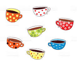 wallpaper borders coffee cups cute coffee mug and tea cup wallpaper stock vector art more images