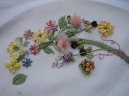 ribbon embroidery flower garden art of silk blog the art of silk ribbon embroidery