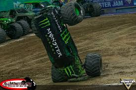 monster energy monster jam truck anderson and bradshaw finish fs1 championship series on top
