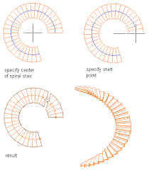 spiral staircase floor plan to create a spiral stair with user specified settings autocad