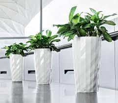 design blumentopf lechuza pflanzgefäß diamante komplettset schwarz weiß jardin