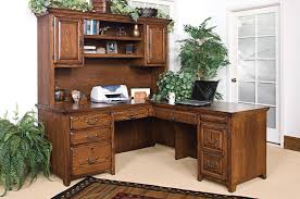 L Shaped Desk With Bookcase Outstanding Corner Desks Wit Hutch Solid Wood Construction Medium