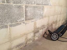 Bowing Basement Wall by Moldy And Bowed Basement Walls In Hilliard