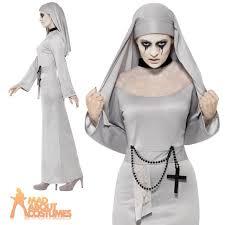 White Halloween Costume Ladies Grey Gothic Costume Fancy Dress Halloween