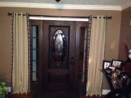 Front Door Window Curtain Front Doors Front Door Door Design How To Put Curtains On Front