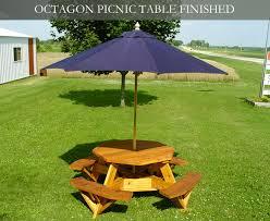 the amazing picnic table with umbrella hole attractive csublogs com