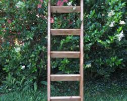 Large Ladder Bookcase Ladder Shelf Etsy