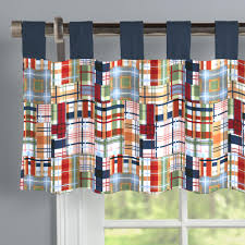 patchwork plaid window valance tab top carousel designs