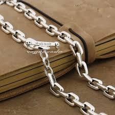 customized necklace 2017 925 sterling silver mens biker rocker necklace 8w007n