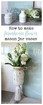 jar vases how to make farmhouse flower jar vases raggedy bits