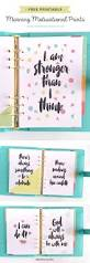 quote cards for planner get motivated in the morning with these free printable