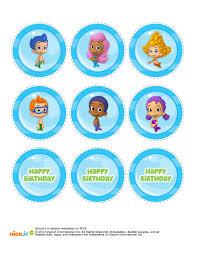 bubble guppies cupcake topper printable bubble guppie birthday