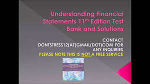 understanding financial statements 11th edition test bank and