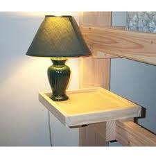 Bunk Bed Side Table Solid Wood L Shelf Just Image Storage Pinterest Bed