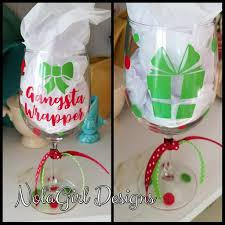 wine glass party favor christmas wine glass gangsta wrapper party favor cocktails