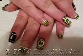 love4nailart football nail art green bay packers