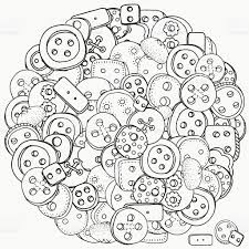 circle pattern for coloring book clothes buttons stock vector art