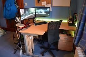 computer desk for dual monitors multi monitor computer desks best cool computer desks to