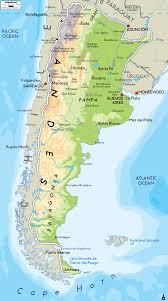 physical map of argentina physical map of argentina ezilon maps