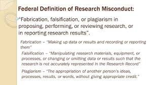 responsible conduct of research training research misconduct