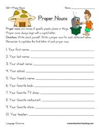 proper noun worksheet by have fun teaching teachers pay teachers