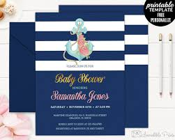 navy and gold nautical baby shower invitation template nautical