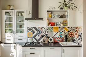 wallpaper for kitchen backsplash raised tile wallpaper kitchen backsplash smith design popular