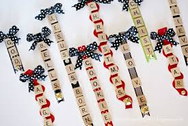 scrabble tile ornaments dimples and tangles