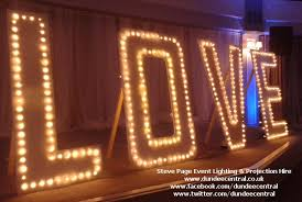 large light up letters steve page lighting hire large light up love sign hire