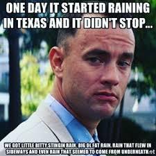Texas Weather Meme - texas rain as told through memes