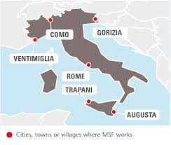 Italy Map Cities And Towns by Italy Msf Usa