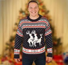 ugly christmas sweater with lights reindeer ugly christmas sweater
