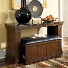 Sofa Console Tables by Signature Design By Ashley Merihill Faux Marble Sofa Table W