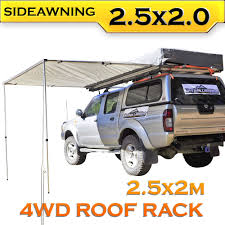 Hardtop Awnings For Trailers 2 5m Awning Roof Top Tent Camper Trailer 4wd 4x4 Side Camping Car