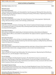 sample resume real estate agent real estate agent resume example