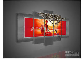 cheap art prints 5 panel wall art african abstract large cheap nude girls oil