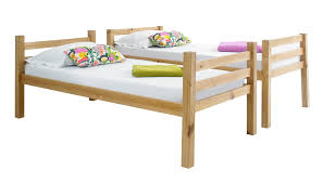 Betternowmcouk Straight Solid Pine Wood BUNK BED With  X - Solid pine bunk bed