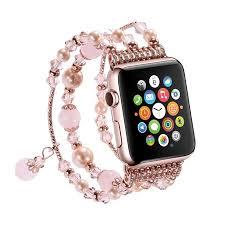 pearl bracelet elastic images Coverlab for apple watch band pearl bracelet elastic stretch jpeg