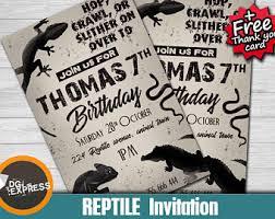 reptile invitation etsy