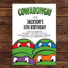 mutant turtles birthday invitations mutant