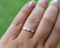 engagement rings size 8 white opal ring etsy