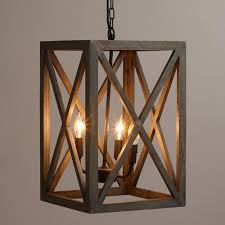 Wood Iron Chandelier Wood And Iron Valencia Chandelier