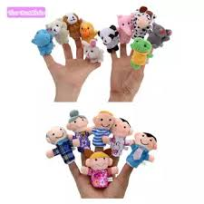 baby puppet ybc 16pcs finger puppet plush toys child baby favor