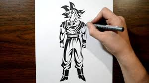 drawing goku dragon ball tribal tattoo design style youtube