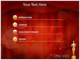 oscar award ppt templates powerpoint themes backgrounds