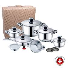 une batterie de cuisine batterie cuisine 16 pieces imperial collection valise de