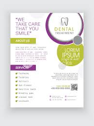 professional dental treatment flyer banner or template design for
